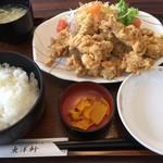 とり天発祥の店 レストラン東洋軒 - 本家とり天定食(1,350円)
