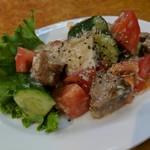 石狩亭 - チャーシューと胡瓜の和え物