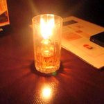酒房食堂 dish - 各テーブルにキャンドル