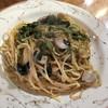 ロズマリーノ - 料理写真:イカと明太子とホウレンソウのマヨネーズスパ