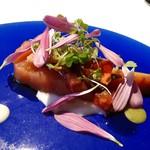 95793880 - 低温調理した秋鮭のサラダ仕立て