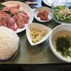 七輪炭火焼肉 牛ぎゅう - 料理写真:和牛二種盛り定食