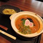 95796799 - 【めんたい煮込みつけ麺】1814円 麺量100g