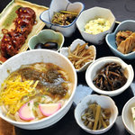四季の里 比良 - 山菜うどん定食