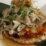 呂龍 - 鶏つくねの豆腐ハンバーグ秋味添え
