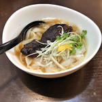 刀削麺 福龍門 - ミニ刀削麺に醤油角煮のせ