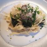 トラットリア ラ・ルーチェ - 牡蠣とほうれん草のクリームソースフェットチーネ