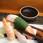 玄海鮨 - サーモン トロ  大葉巻