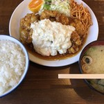 竜宮ラーメン - チキン南蛮定食750円