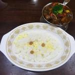 95805274 - 和牛ビーフカレー+季節の野菜