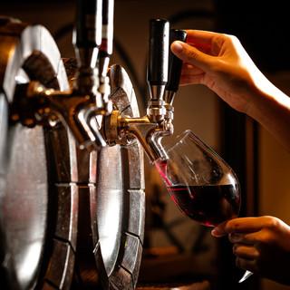 ワインにこだわる樽生ワインが飲めるお店