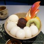 茶房 雲母 - フルーツクリーム白玉あんみつ
