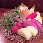 旬菜楽トキ - バーニャカウダ