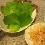9581578 - サムギョプサルについてくる巻き巻き野菜セット