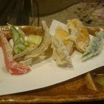 柳家 - 天ぷら(味女どじょう、季節の野菜)