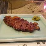 柳家 - 鹿肉のロース(北海道産)の炭火焼き
