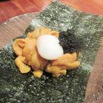 不風流 - 雲丹 キャビア 鶉の半熟玉子