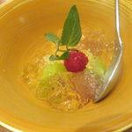 不風流 - 梅酒のセリーと果物