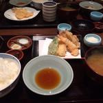 天ぷら つな八 - 天ぷら定食、一皿目