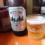 山田うどん - ドリンク写真:2048年10月 瓶ビール