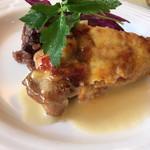 95817074 - ・ランチAコース<阿波鶏もも肉のトマトチーズグラティネ>