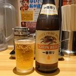 らあめん花月嵐 - 瓶ビール(580円)
