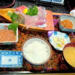 魚処にしけん - 恋人セット(刺身盛り合わせ定食)2セット¥3900