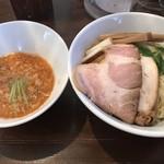 つけそば専門店 極一 - 料理写真:秋鮭の淡麗つけそば@850円 大盛り+100円