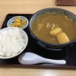 歩々亭 - 料理写真:カレーうどん 700円  ライス150円