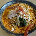 麺屋楽笑 - 料理写真:辛黒マー油味噌ラーメン