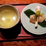 蓮根 - 豆腐湯葉御膳のデザート