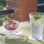 樹ガーデン - ライムソーダとベリーアイスクリーム