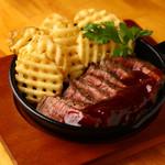 国産赤身肉BBQステーキ