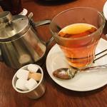 カフェ&ブックス ビブリオテーク - 軽く2杯とれます♡ 砂糖全く使わないけど一緒に撮ると可愛いから(笑)