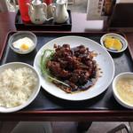 高園 - ②黒酢鶏肉唐揚げ(680円)【平成30年10月24日撮影】