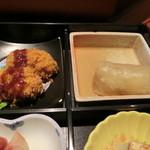膳菜や - カキフライとロールきゃべつ