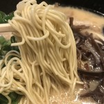一竜 - 麺上げ