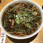 東家寿楽 - 山菜そば  1242円