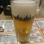 うめっちゃが食堂 - 生ビール(定価480円)