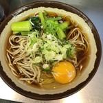 95857599 - 「野沢菜わさび風味そば」(400円)+「玉子」(50円)