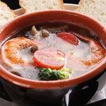TORI TAMURATTE - 「タムラッテ風オイル煮」 季節の野菜とエビのオイル煮です。