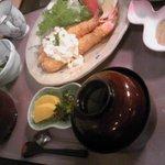 町屋 清水庵 - えびフライ定食