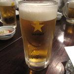 とんがらし - 生ビール 600円