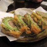 とんがらし - ゴーヤの肉詰め天ぷら 630円