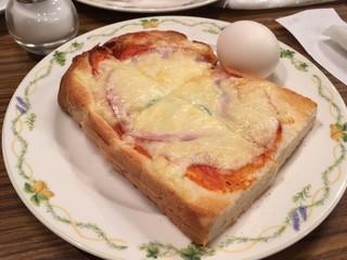 ニューY・C - モーニング ¥500 日替わり 今日はピザトースト