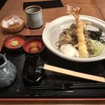 信州そば処 そじ坊 - 料理写真:大海老と舞茸の天のおろしそば