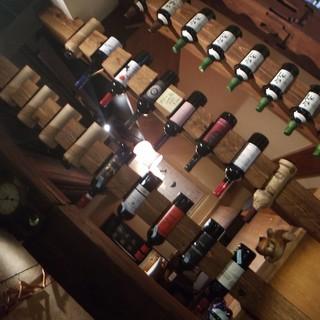 ワインも色々用意してます