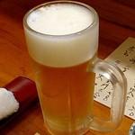 四季の味 たけもと - 生ビール