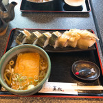 萬松 - 鯖寿司ハーフ定食 税込1500円☆