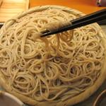 手打そば さかき - 綺麗な麺線